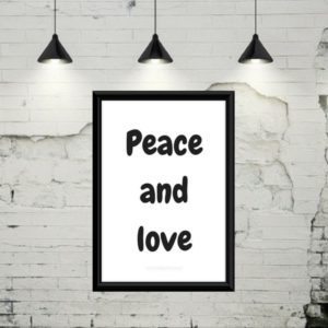 Plakat - Peace and love